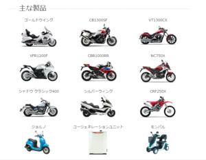 ホンダ熊本工場で生産バイク