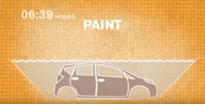 日産ノート塗装工程1