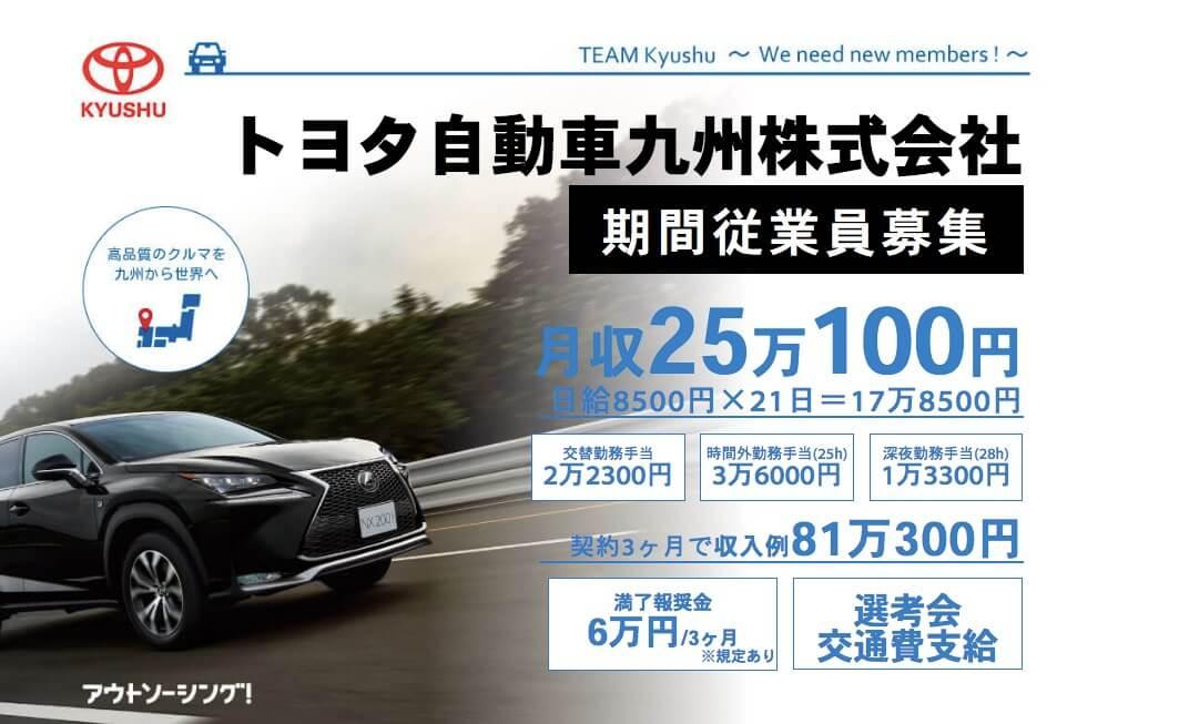 期間工jp-トヨタ自動車九州の期間工