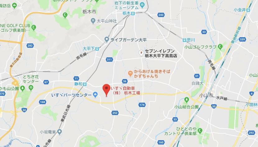 いすゞ栃木工場周辺